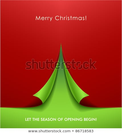 2012 · happy · new · year · carte · de · vœux · arbre · de · noël · rouge · étoiles - photo stock © aispl