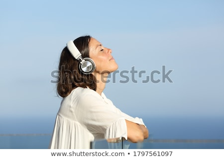 Woman relaxing outside Stock photo © photography33