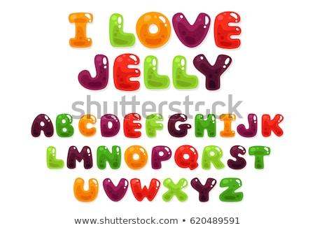 Love-shaped jelly Stock photo © azamshah72