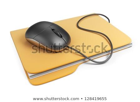 Bilgisayar fare klasörler renkli iş bilgisayar ofis Stok fotoğraf © pkdinkar