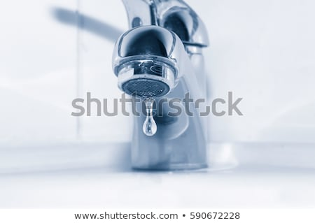 kitchen sink with water drops stock photo © ssuaphoto