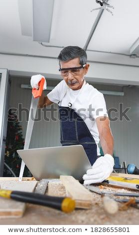 Senior artesão laptop computador escritório Foto stock © photography33