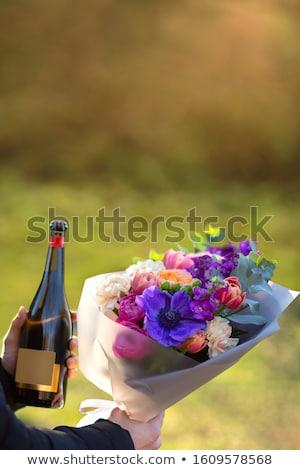 женщину · стекла · шампанского · улыбаясь · моде - Сток-фото © photography33