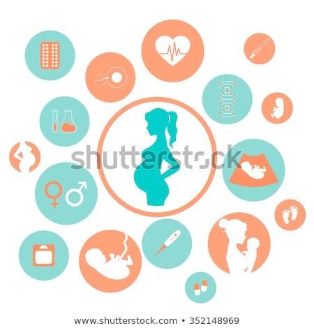 Buik fopspeen moeder baby vrouw Stockfoto © AlphaBaby