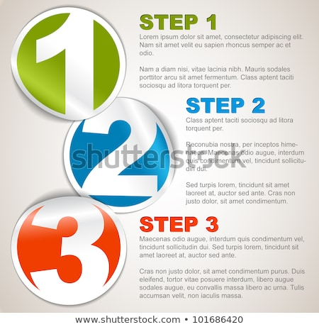 one two three four   vector progress background with letters stock photo © orson