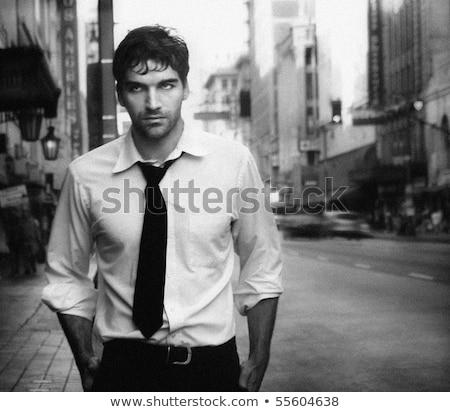 hombre · guapo · foto · jóvenes · aire · libre · retrato - foto stock © Victoria_Andreas