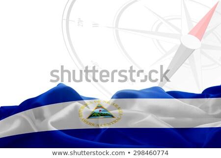 Nicaragua · glanzend · hartvorm · vlaggen · republiek · hart - stockfoto © perysty