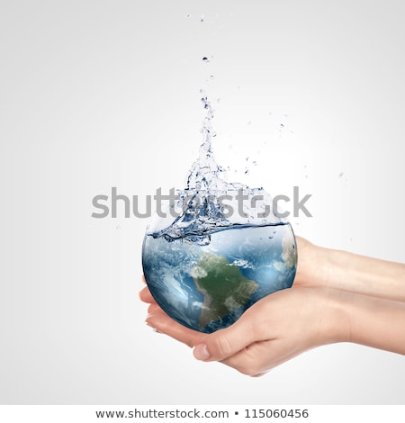reflexão · piscina · água · azul · terreno · fundo - foto stock © klikk