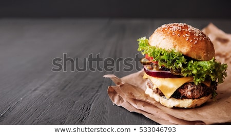 burger and fries at a pub stock photo © sumners
