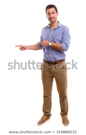 young casual man presenting Stock photo © feedough
