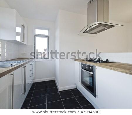Gas ventilador cocina acero cocina lejos Foto stock © RTimages