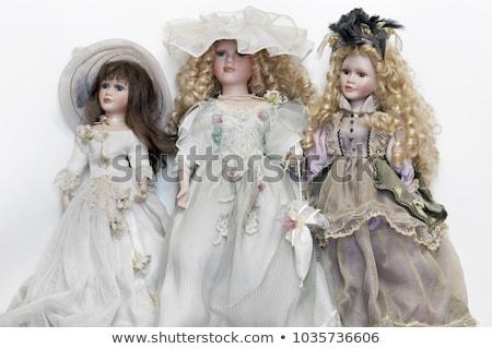 schönen · blond · Mädchen · schauen · wie · Superstar - stock foto © carlodapino