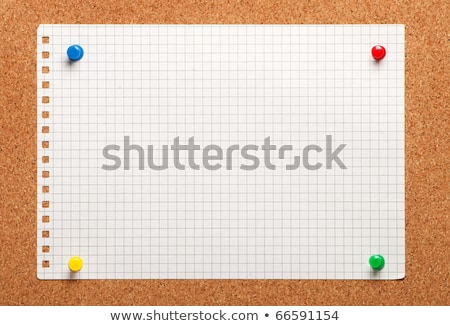 White torn paper attached to a cork noticeboard. Stock photo © latent