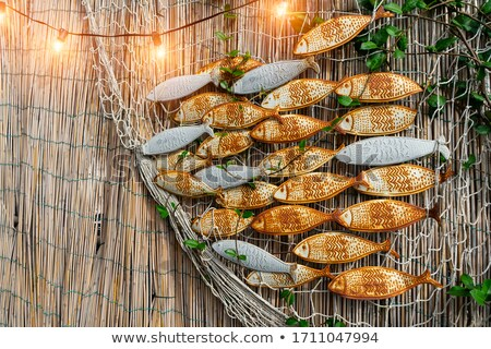rusty metal fish scales stock photo © emattil