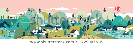 village in the mountains stock photo © anna_om