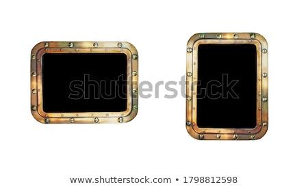 orzechy · streszczenie · sztuki · ilustracja · metal · złota - zdjęcia stock © robertosch