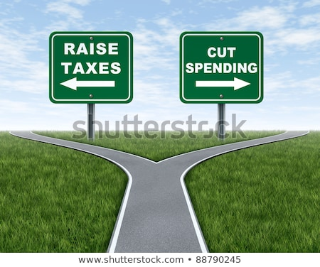 raising taxes or cutting spending stock photo © lightsource