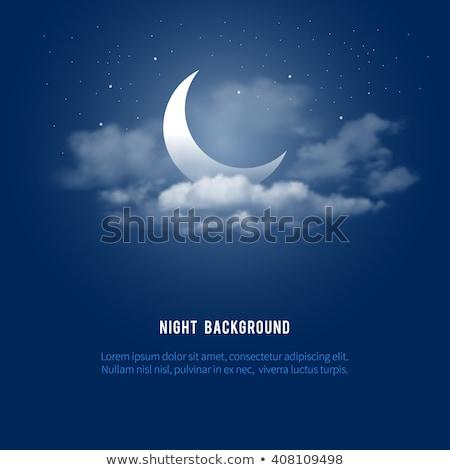örnek gece bulutlar ay Yıldız gece gökyüzü Stok fotoğraf © obradart