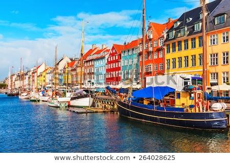 Copenhagen · blu · rosso · case - foto d'archivio © benkrut