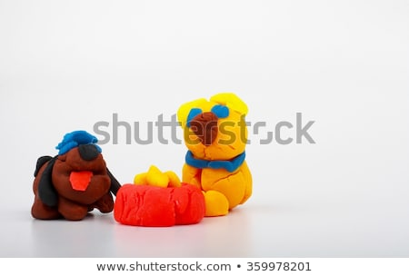 Handmade modeling clay figure with cats Stock photo © Zerbor