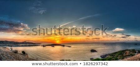 hajóút · sziget · mediterrán · napfelkelte · Spanyolország · víz - stock fotó © lunamarina