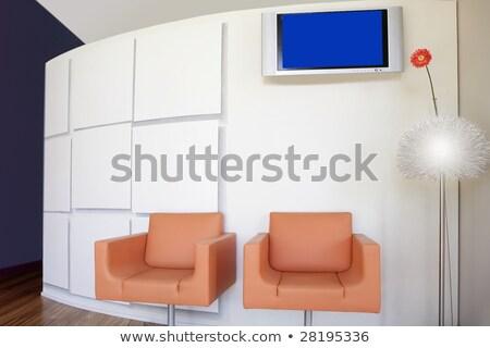 nowoczesne · biuro · lobby · pomarańczowy · kwiat · Daisy - zdjęcia stock © lunamarina