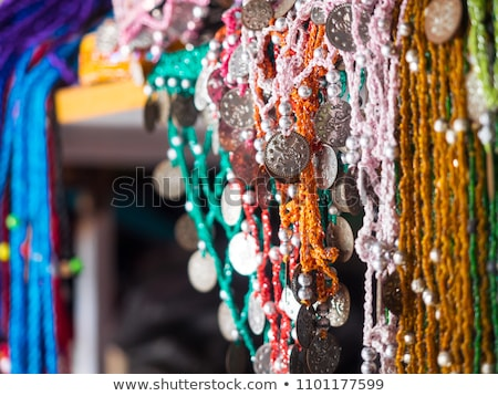 colorful scarves at the market place stock photo © bertl123