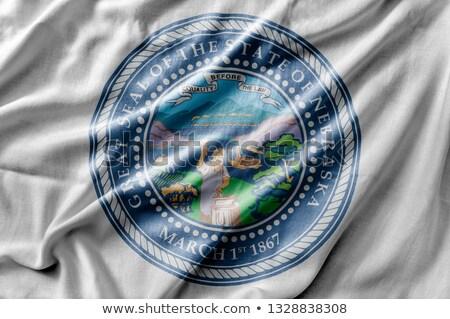 Vászon zászló Nebraska rövidítés szövet vidék Stock fotó © michaklootwijk