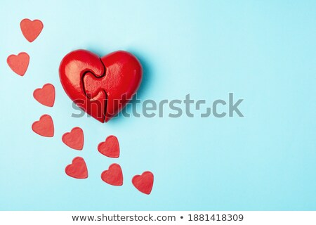 Stock photo: Charity Concept on Blue Puzzle.