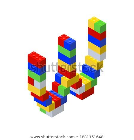 Letter W on Childrens Alphabet Block. Stock photo © tashatuvango