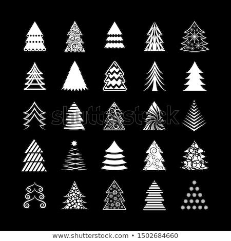 Karácsonyfa alakú nyíl zöld piros terv Stock fotó © Anettphoto