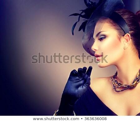 ファッション モデル 着用 ベール 肖像 少女 ストックフォト © dukibu