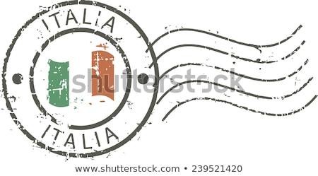 Italiaans · stempel · houten · italiaanse · vlag · 3d · render · achtergrond - stockfoto © claudiodivizia