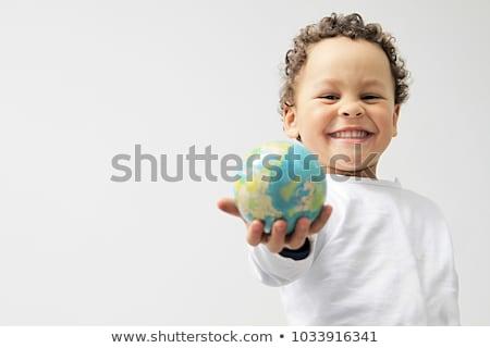 jongen · toekomst · wereld · wereldbol - stockfoto © peredniankina