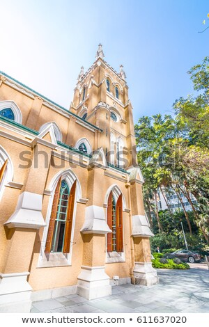 famous st johns cathedral in hong kong stock photo © meinzahn