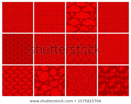 seamless chinese auspicious clouds fabric background pattern   Stock photo © creative_stock