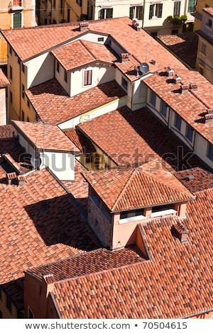 Panorama of the beautiful Italian city Verona from Torre dei Lam Stock photo © meinzahn