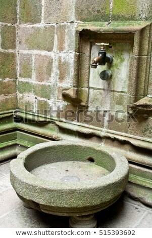 給水栓 修道院 修道院 ノルマンディー ストックフォト © smuki