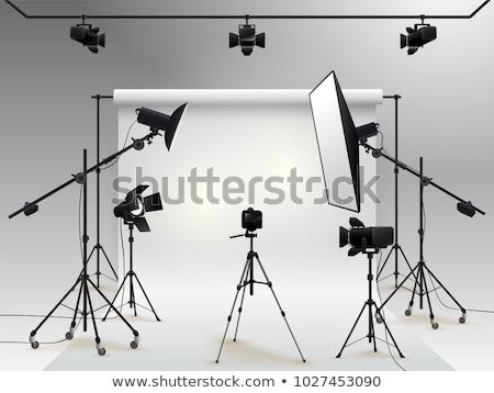 vide · photo · studio · matériel · d'éclairage · rendu · 3d · lumière - photo stock © tetkoren