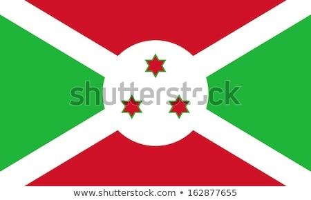 Bandeira Burundi branco diagonal atravessar vermelho Foto stock © dvarg