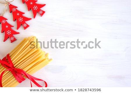 Karácsony tészta formák fehér paradicsom ünnepel Stock fotó © FOKA