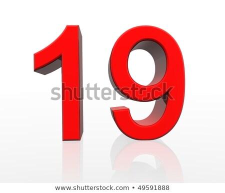 красный числа 19 отражение белый дизайна Сток-фото © Zerbor