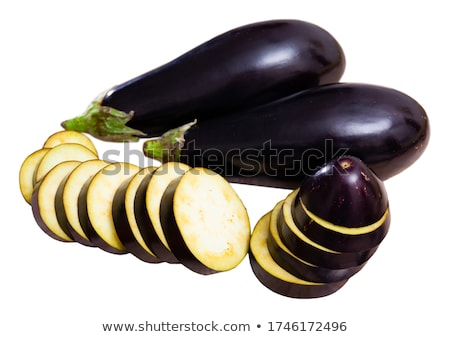 Stock fotó: Eggplant Or Aubergine On White Background