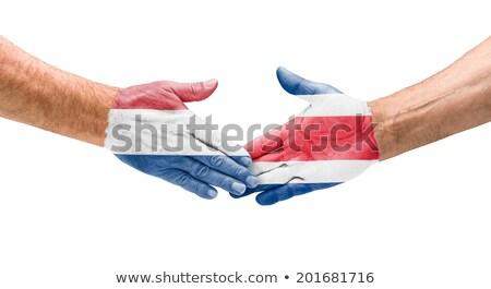 Stretta di mano Paesi Bassi Costarica mano riunione sport Foto d'archivio © Zerbor