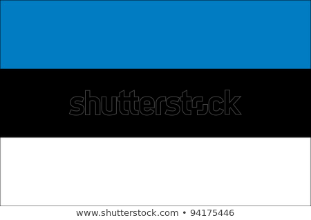 Bandera Estonia color aislado Foto stock © mayboro
