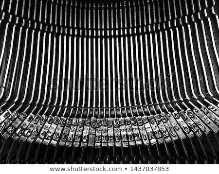 Typebars closeup Stock photo © creisinger