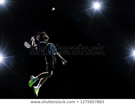 Conjunto badminton grama diversão treinamento jogar Foto stock © OleksandrO