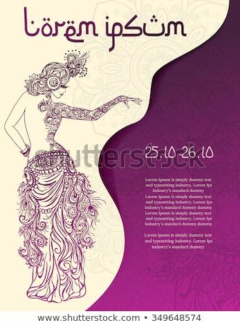 barriga · dança · mulher · negra · silhueta · branco · mulher - foto stock © jul-and