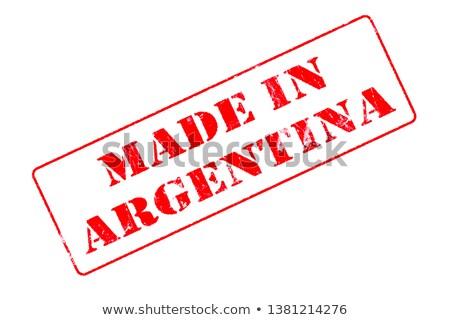 Argentina rojo sello aislado Foto stock © tashatuvango