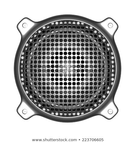 3D Metal konuşmacı ses diskcokey araçları Stok fotoğraf © Melvin07